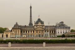 法国,巴黎,2019年- 04,CSFRS/GeoStrategia - École Militaire部队学校 免版税库存照片