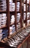 布料商店在巴黎 免版税库存照片