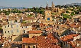 法国,布歇du罗讷,沙龙de普罗旺斯城市 免版税库存照片