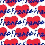 法国,手字法 钢笔画现代的书法 模式 免版税库存照片