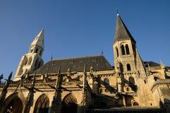 法国,普瓦西牧师会主持的教堂在列斯伊夫林省 库存图片