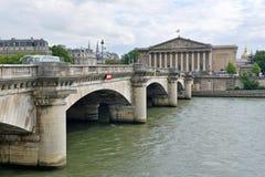 巴黎法国,最近站点多次恐怖袭击 库存照片