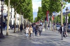 巴黎法国,最近站点多次恐怖袭击 库存图片