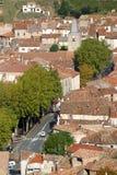 法国,朗戈多克・鲁西荣, Herault,圣徒Chinian, StChinian,屋顶 免版税库存照片