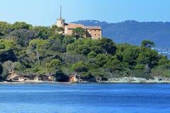 法国,法国海滨, Sainte延命菊,海岛,海的博物馆 免版税库存照片