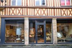 法国,美丽如画的市鲁昂在Normandie 免版税库存图片