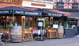 法国,美丽如画的市鲁昂在Normandie 库存照片