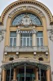 法国,美丽如画的市Trouville在Normandie 免版税库存照片