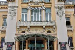 法国,美丽如画的市Trouville在Normandie 库存图片