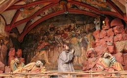法国,美丽如画的老市Obernai 免版税库存照片