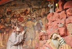 法国,美丽如画的老市Obernai 库存图片