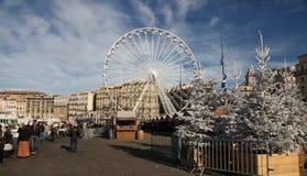 法国,马赛- 2015年11月19日:传统圣诞节ma 免版税库存照片