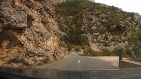 法国,维登峡谷 当驾驶汽车视图通过挡风玻璃时 影视素材