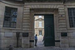 法国,巴黎:2017年8月5日:毕加索博物馆内部空间 免版税库存照片