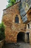 法国, Abri de la马德琳全土栖的站点在Tursac 库存照片