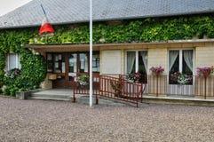 法国, Beuvron en Auge美丽如画的村庄在Normandie 免版税图库摄影