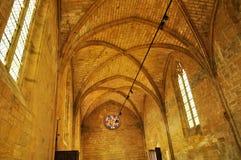 法国, Biron美丽如画的城堡在多尔多涅省 库存图片