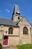 法国, Boury en Vexin美丽如画的村庄  免版税库存图片