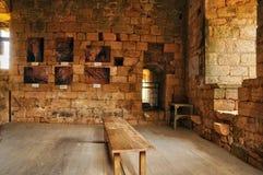 法国, Commarque美丽如画的城堡在多尔多涅省 库存照片