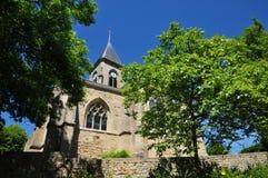法国, Fremainille美丽如画的村庄  图库摄影