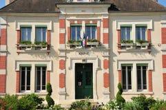 法国, Goussonville美丽如画的村庄  免版税图库摄影
