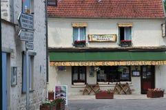 法国, Moisson美丽如画的村庄  库存图片