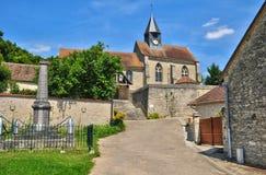 法国, Montreuil sur Epte美丽如画的村庄  免版税库存照片