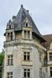 法国, Puyguilhem新生城堡在多尔多涅省 免版税库存照片
