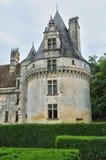 法国, Puyguilhem新生城堡在多尔多涅省 库存照片