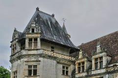法国, Puyguilhem新生城堡在多尔多涅省 库存图片