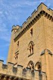 法国, Puymartin美丽如画的城堡在多尔多涅省 库存图片