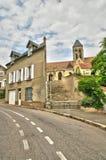 法国, Vetheuil美丽如画的村庄  免版税图库摄影