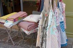 法国织品商店 图库摄影