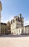 法国 在大别墅de Chambord, 1519 - 1547年的庭院里 联合国科教文组织名单 免版税库存照片