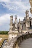 法国 从大别墅de Chambord, 1519 - 1547年的大阳台的看法 图库摄影