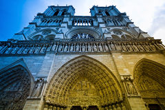 法国贵妇人notre巴黎 免版税库存照片