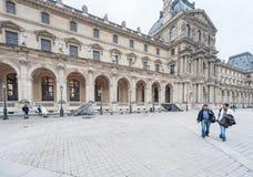 巴黎法国- 2012年11月24日:罗浮宫地区在巴黎和宫殿 法国 婚礼照片写真 免版税库存照片