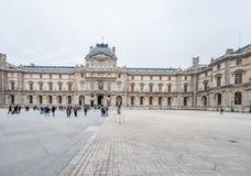 巴黎法国- 2012年11月24日:罗浮宫地区在巴黎和宫殿 法国 免版税图库摄影