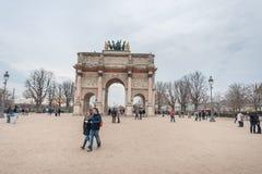 巴黎法国- 2012年11月24日:罗浮宫地区在巴黎和宫殿 法国 库存图片