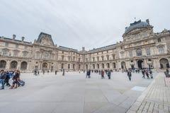 巴黎法国- 2012年11月24日:罗浮宫地区在巴黎和宫殿 法国 库存照片