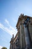 巴黎-法国- 2015年8月30日:著名盛大Palais大宫殿在巴黎 库存图片