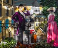 巴黎-法国- 2015年8月30日:画在墙壁上 法国巴黎 库存图片