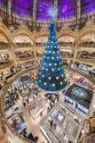 巴黎法国- 2012年11月22日:Galeries拉斐特Haussmann商城在巴黎 法国 库存照片