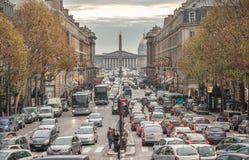 巴黎法国- 2012年11月24日:Royale街在巴黎,法国 免版税库存照片