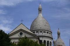 法国- 2015年8月-耶稣圣心(Sacre-Coeur)的大教堂, 1873-1914,设计保罗Abadie (1812-1884),巴黎(联合国科教文组织 库存照片