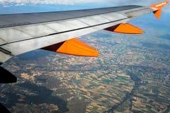 法国- 10月14 :法国乡下的鸟瞰图从 免版税库存图片