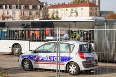法国巴黎攻击-毗邻与德国的监视 图库摄影