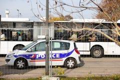 法国巴黎攻击-毗邻与德国的监视 库存照片