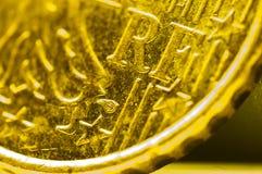 法国10cent欧洲硬币细节 免版税图库摄影