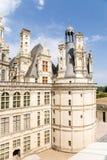 法国 Chambord城堡的庭院的看法, 1519 - 1547年 联合国科教文组织名单 免版税库存图片